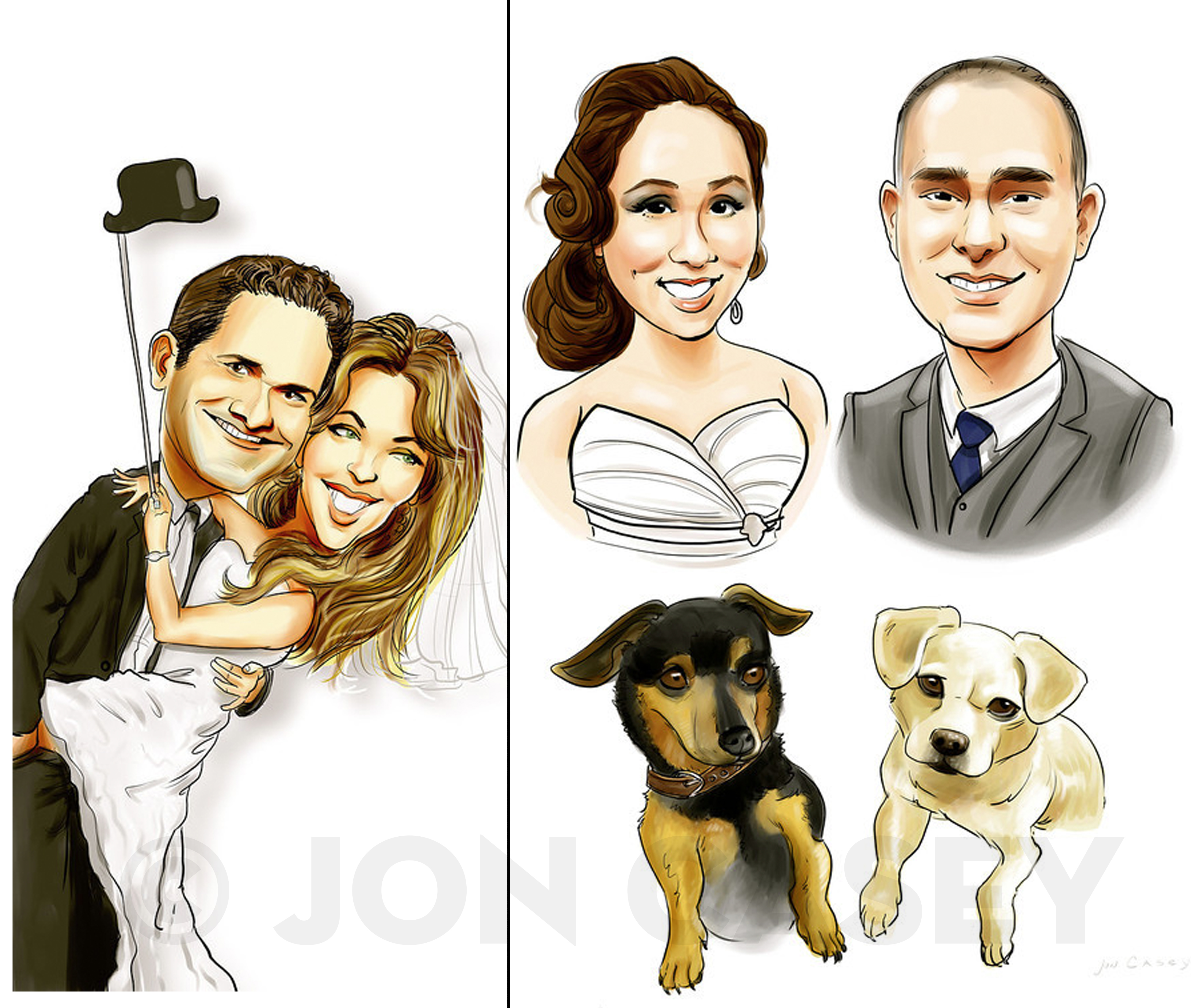 How to hire a caricature artist for your wedding entertainment ...